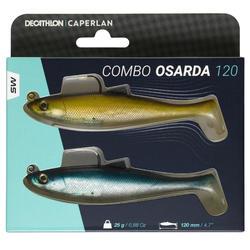 COMBO leurre Shad swimbait OSARDA 120 NATURAL