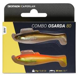 Kunstvisje voor zeevissen Shad swimbait sardine Osarda 80 Flashy