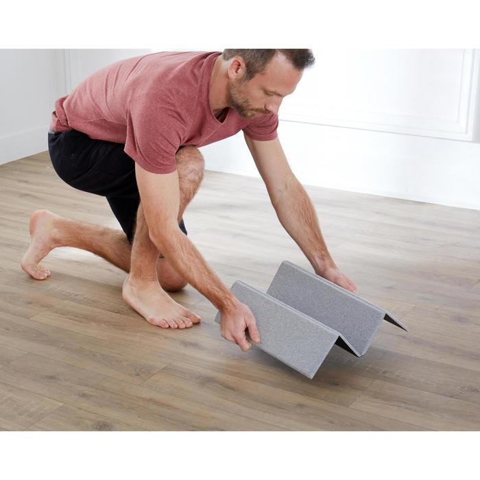 Fitnessmat pilatesmat mini grijs 50 cm x 39 cm x 8 mm