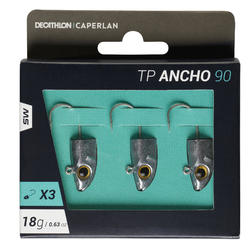 Jigkop voor zeevissen met kunstaas TP ANCHO 90 18 g x3