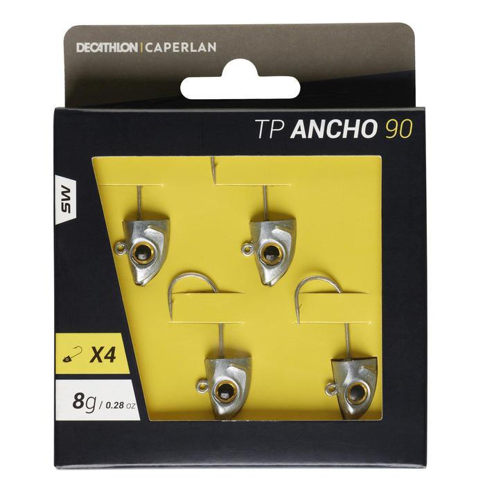 Jigkop voor zeevissen met kunstaas TP ANCHO 90 8 g x4