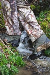 100 Waterproof Hunting Boots - Green