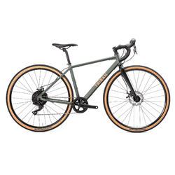 Gravel bike dames GRVLW120 Microshift grijs/groen