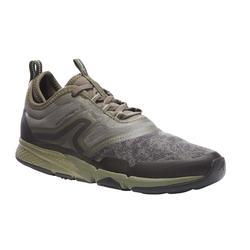 Damessneakers voor sportief wandelen PW 580 kaki