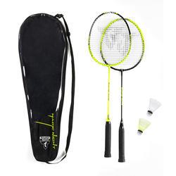 Set raquete de Badminton e volantes Magic Night