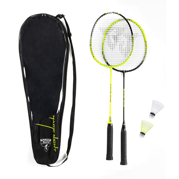 Set raquette de Badminton et volants Magic Night