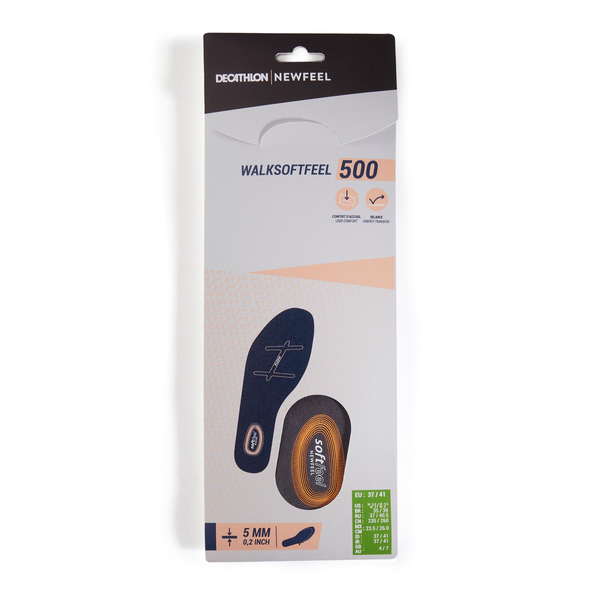 Walk Softfeel Insoles - UK 4-7 EU37-41 By NEWFEEL   Decathlon