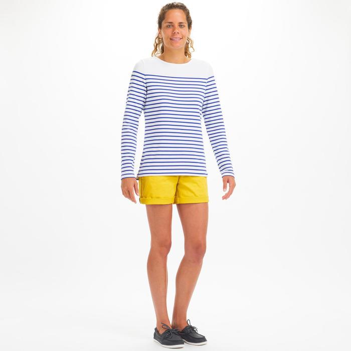 T-Shirt Manches longues de voile femme SAILING 100 Blanc indigo