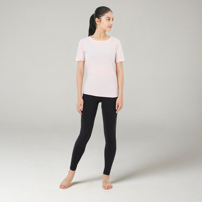 Tulle Pilates and Gentle Gym T-Shirt 520 - Pink
