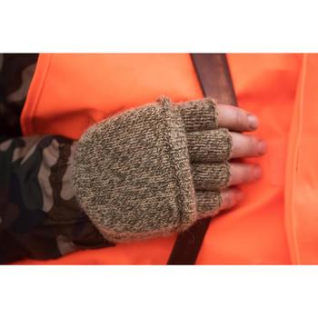 Mitaines chasse 100 laine marron
