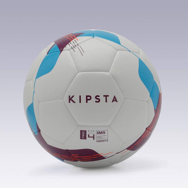FOTBALOVÉ MÍČE Fotbal - MÍČ F500 HYBRIDE VEL. 4 BÍLÝ KIPSTA - Fotbalové míče a branky