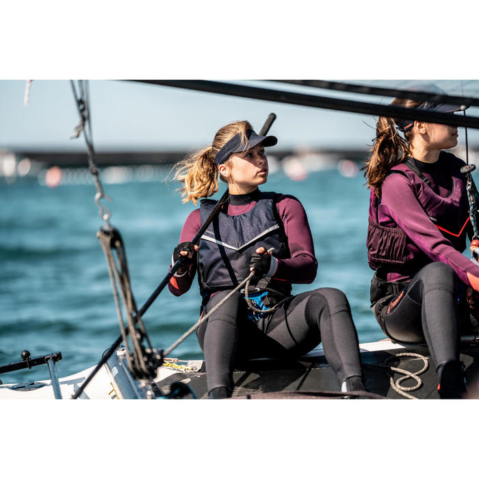 Zwemvest 50N voor open boot zeilen 500 donkerblauw
