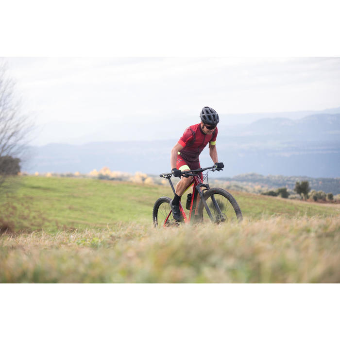 """Cross country mountainbike XC 900 29"""" carbon frame rood/geel"""