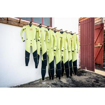 Neopreen wetsuit 3/2mm gestikt-geplakt Zeilen dames Dinghy 500 paarst/zwart