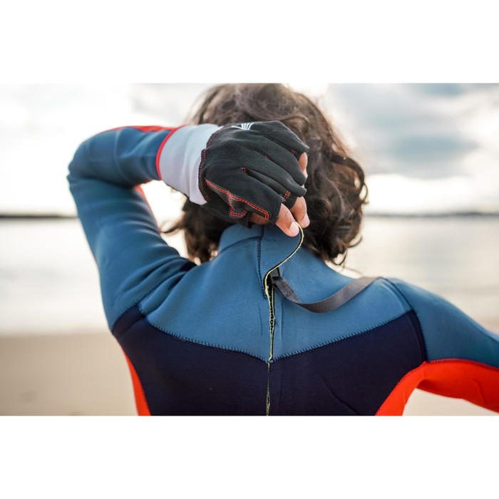 兒童款GBS3/2 mm氯丁橡膠(neoprene)防寒衣Dinghy500-藍色/橘色