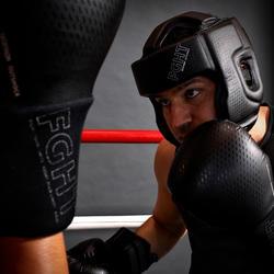 Open face hoofdbeschermer voor volwassenen boksen 900 zwart