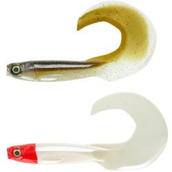Softbait voor hengelen op meerval set Rogengrub 180 smelt/rode kop