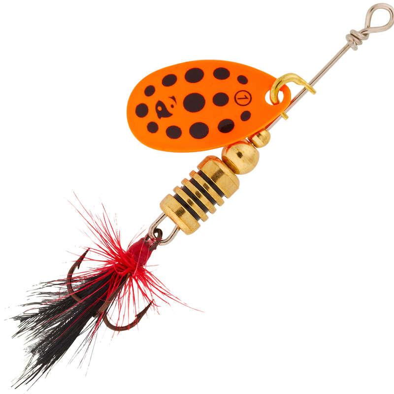 SKEDDRAG ÖRING, ABBORRE Fiske - WETA F#1 orange/svarta prickar CAPERLAN - Fiskedrag och Beten