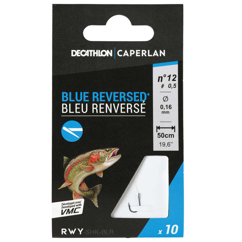 TROUT HOOKS Fishing - SN Hook Blue Reversed CAPERLAN - Fishing