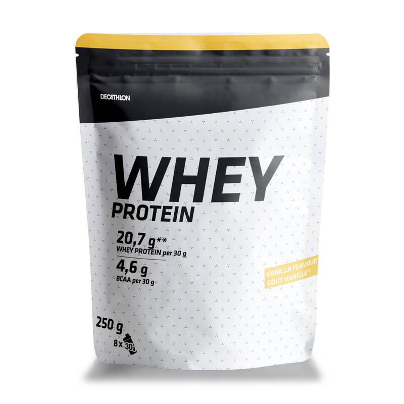 PROTEINY / DOPLŇKY STRAVY Proteiny a gainery - PROTEINOVÝ NÁPOJ WHEY 250 G DOMYOS - Proteiny a gainery
