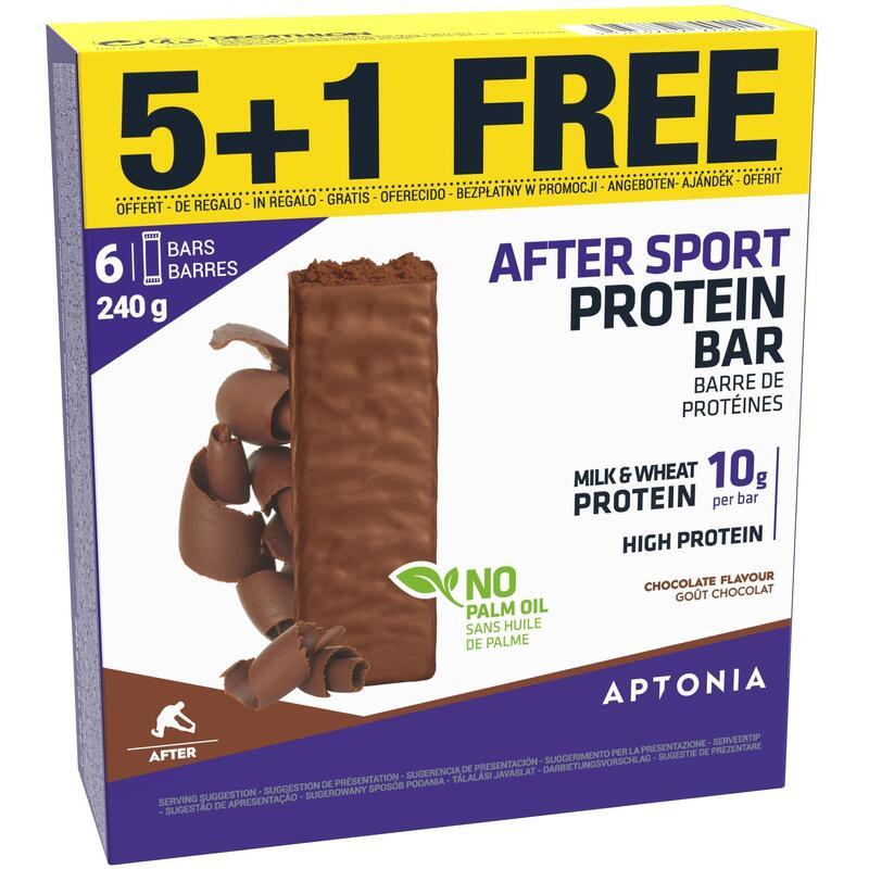 Barrita proteica AFTER SPORT Chocolate 40g x 5 + 1 gratis