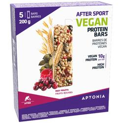 Barre protéinée AFTER SPORT VEGAN Fruits rouges 5x40g