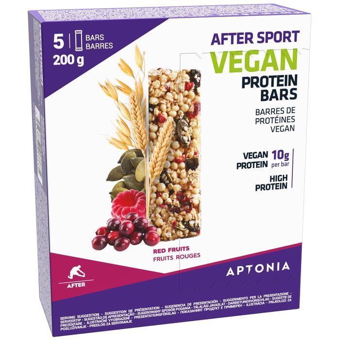 Barre protéinée AFTER SPORT VEGAN Fruits rouges 5x40g
