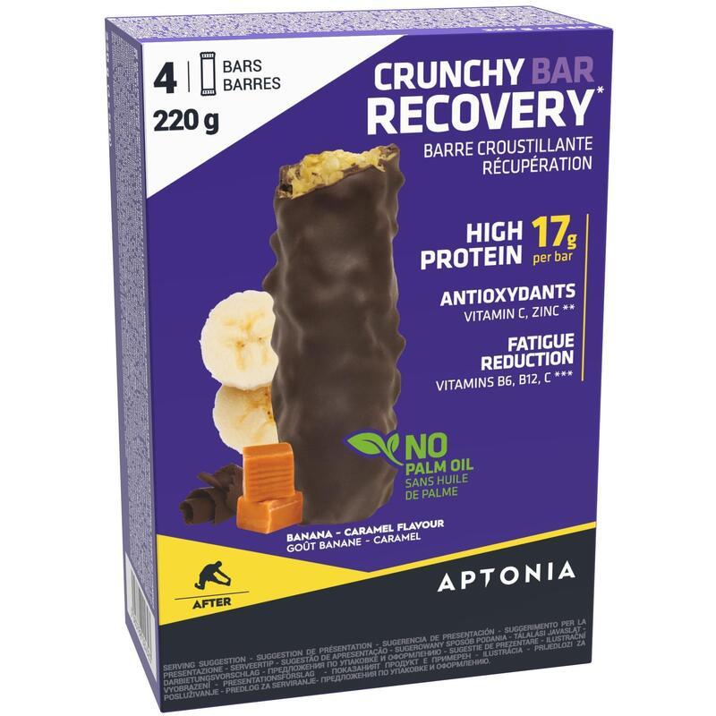 Knapperige recuperatiereep Crunchy Recovery Bar 55 g x4 banaan en karamel