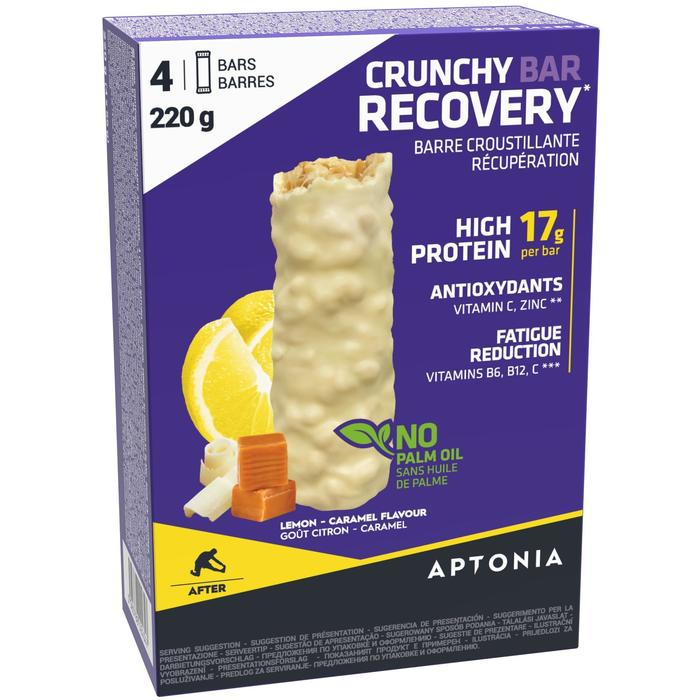 Knapperige recuperatiereep Crunchy Recovery Bar 55 g x4 citroen en karamel