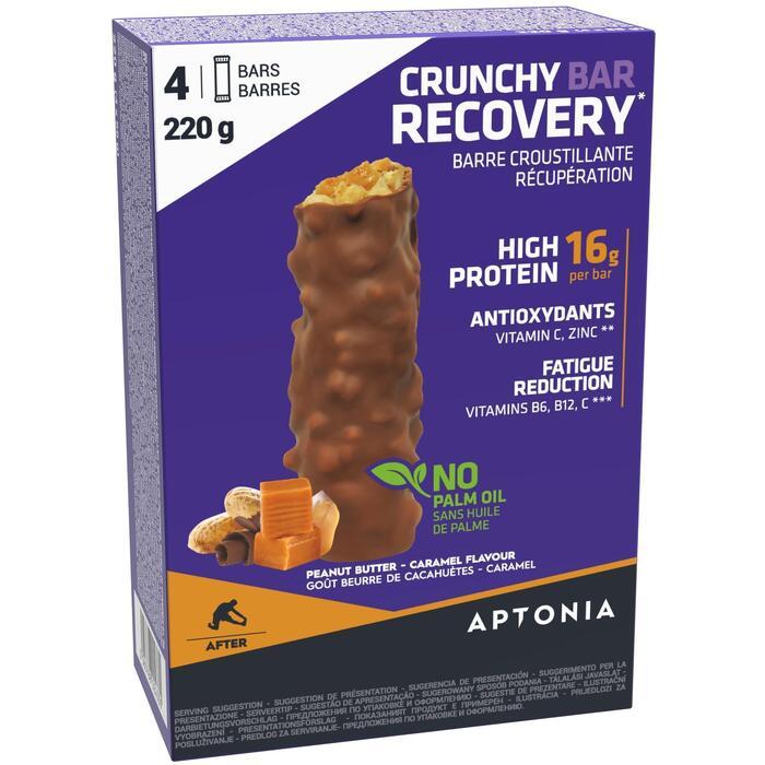 Knapperige recuperatiereep Crunchy Recovery Bar 55 g x4 pindakaas en karamel