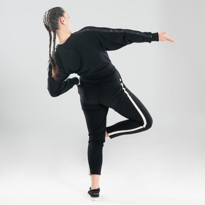 Sweat crop danses urbaines noir femme