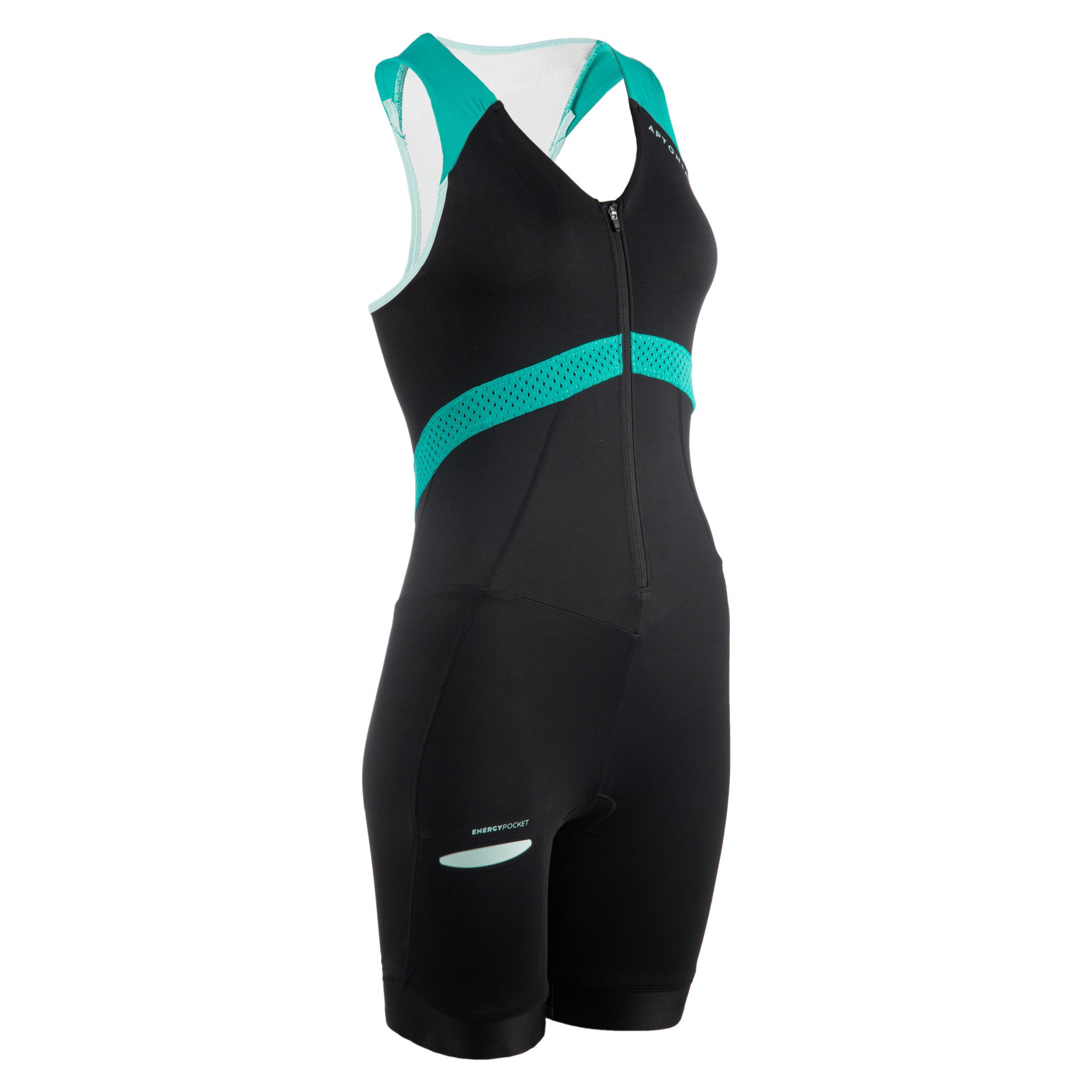 Aptonia Trisuit voor korte afstanden dames zwart/groen