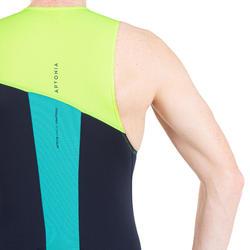 Trisuit SD voor heren korte afstand marineblauw/geel