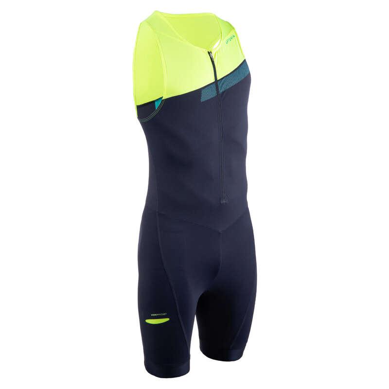 EQUIPMENT ACCESSORIES TRIATHLON Triathlon - SD TRISUIT M NAVY BLUE/YELLOW APTONIA - Triathlon Equipment