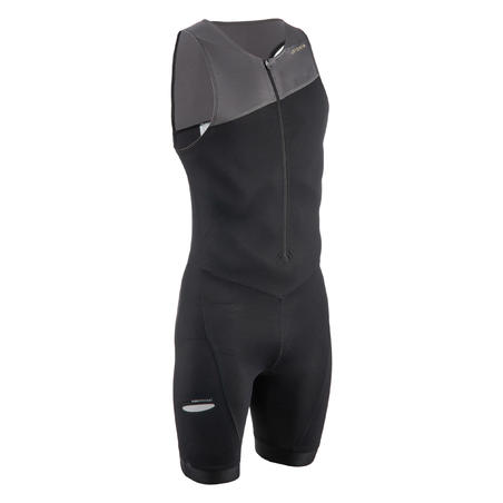 MEN'S SHORT-DISTANCE TRIATHLON TRISUIT - BLACK/GREY