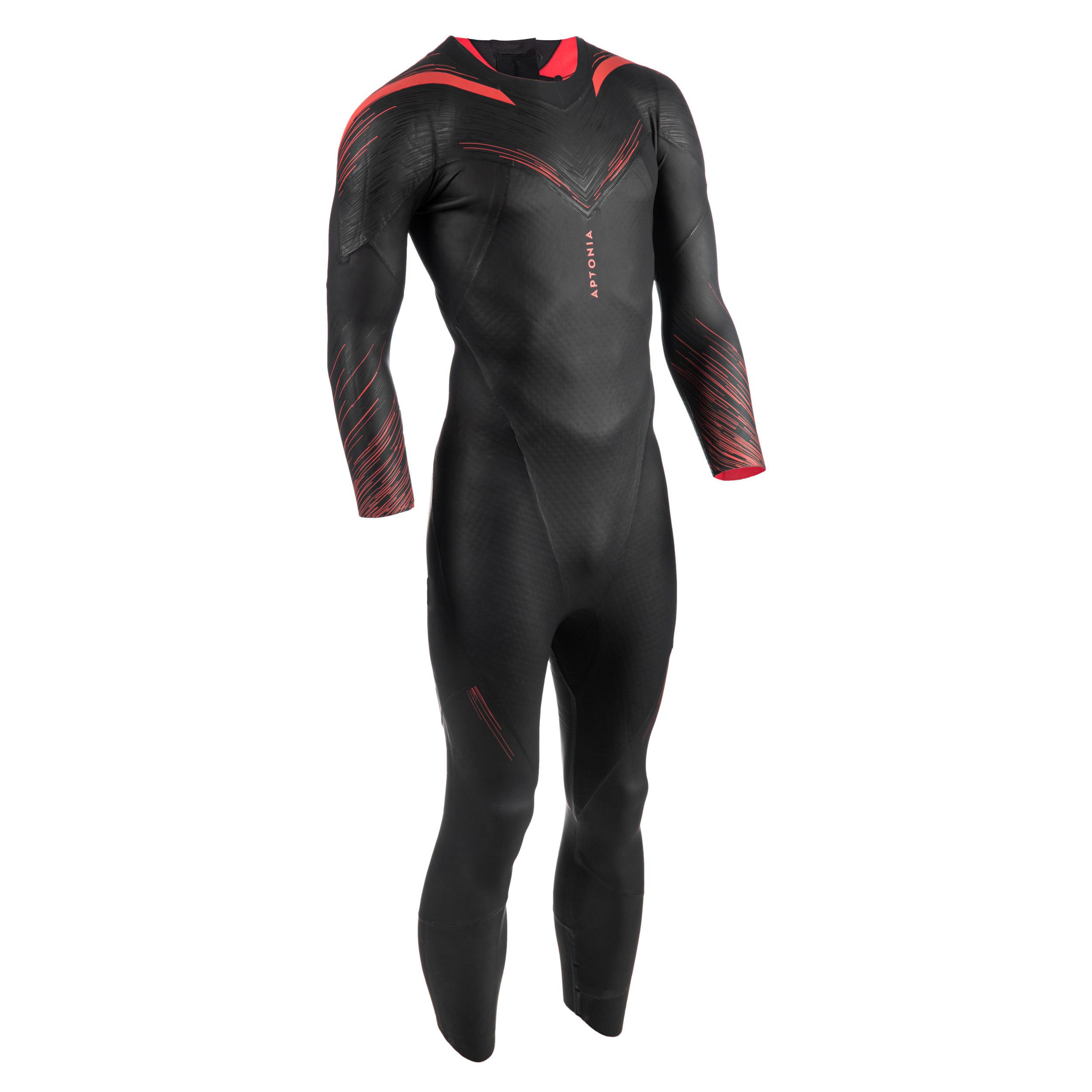 Aptonia Neopreen triatlonwetsuit voor zwemmen heren zwart