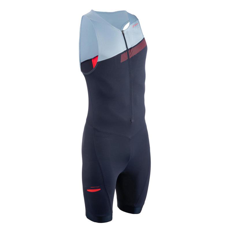 Trisuit SD voor heren korte afstand marineblauw/hemelsblauw