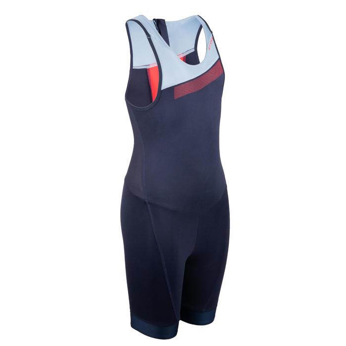 Trisuit voor kinderen jongens meisjes marineblauw/hemelsblauw