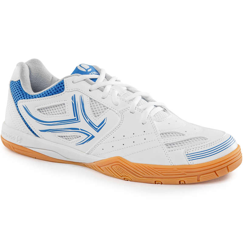 ОБУВКИ ЗА ТЕНИС НА МАСА Тенис на маса - ОБУВКИ TTS 500, БЕЛИ PONGORI - Облекло и обувки за тенис на маса