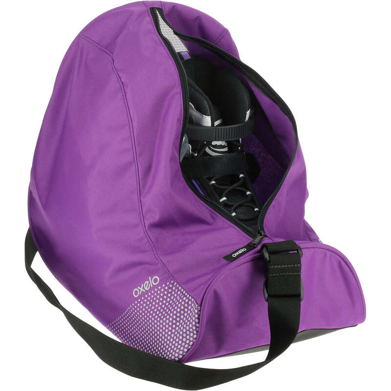 BAGS AND ACCESORIES Ice Skating - 26 Litre Skate Bag Fit Purple OXELO - Ice Skating