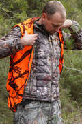 POSTED CAMOUFLAGE CLOTHING Shooting and Hunting - DOWN JACKET 500 FOREST CAMO SOLOGNAC - Hunting Types
