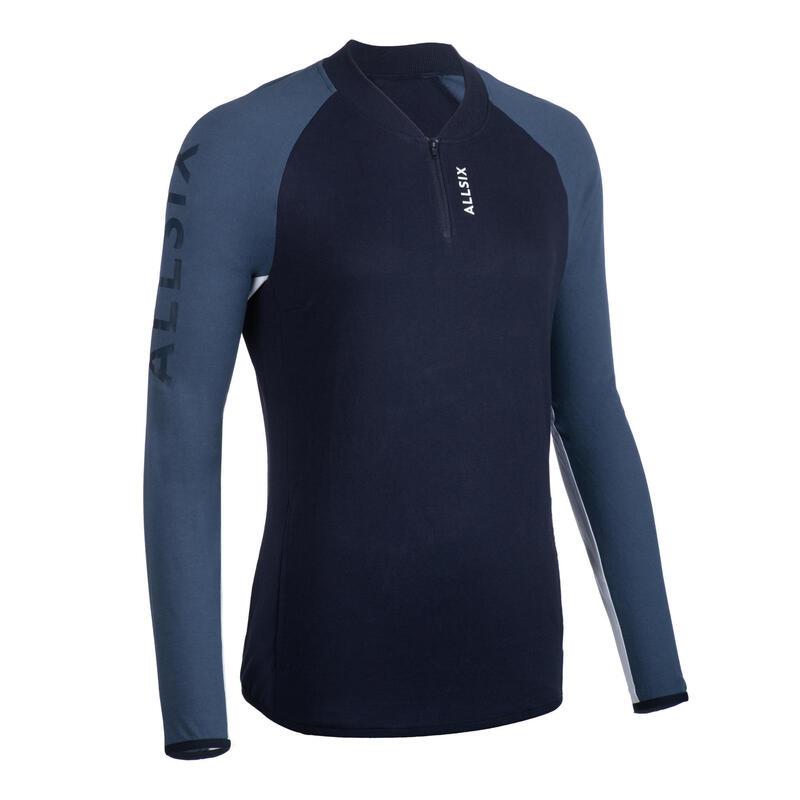 Volleybal sweatshirt dames donkerblauw/lichtblauw