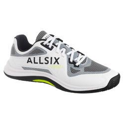 Chaussures de volley-ball pour joueur expert, blanches, noires et jaunes