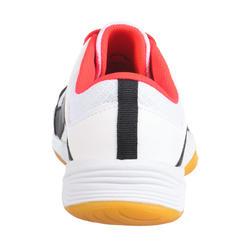 Chaussures de volley-ball fille à lacets blanches, bleues et roses