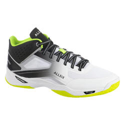 Chaussures de volley-ball V500 Mid homme blanches, jaunes et noires