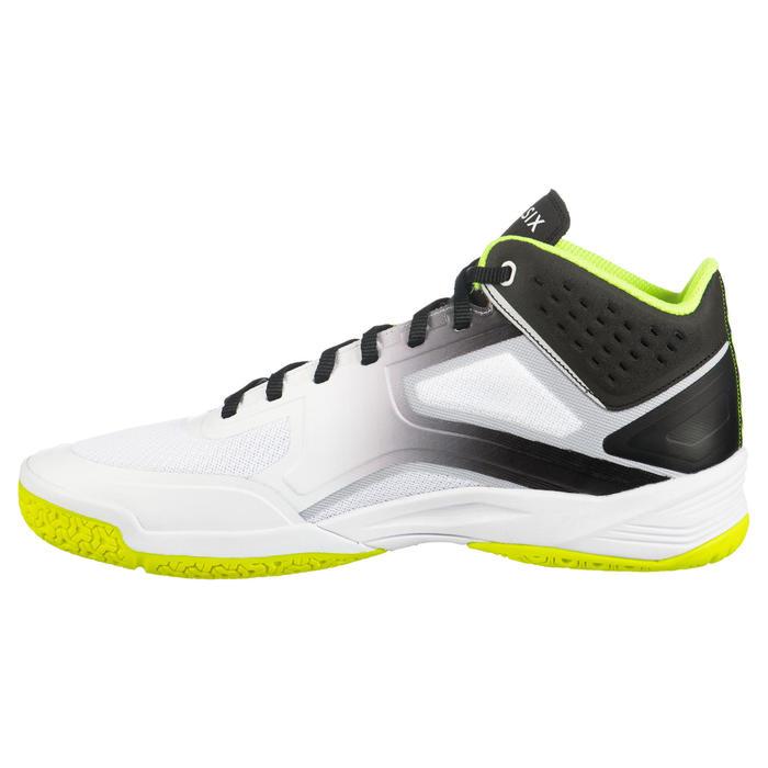 Chaussures de volley-ball V500 Mid homme blanches, jaunes et noires