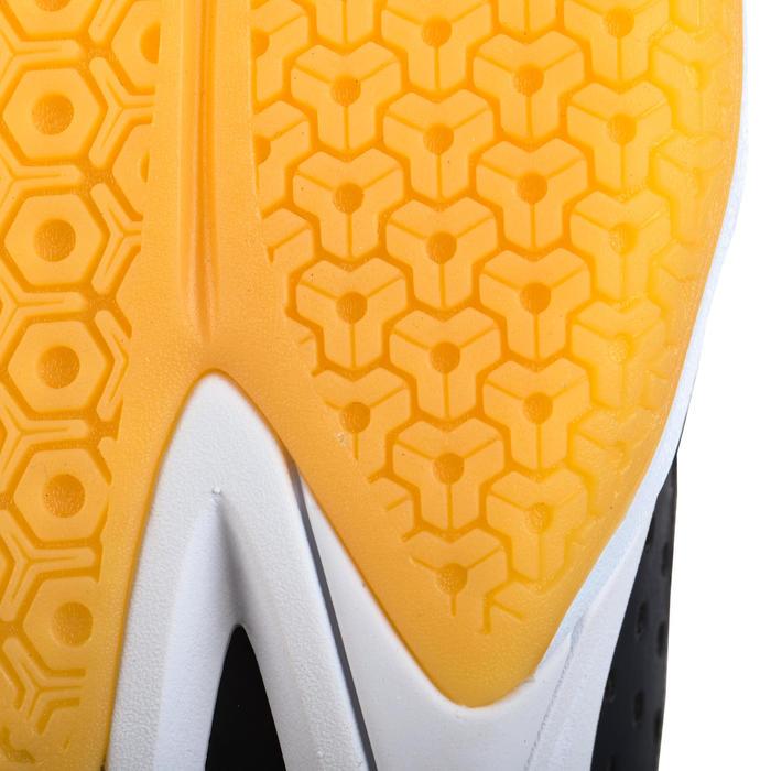 Chaussures de volley-ball V100 femme blanches, bleues et grises
