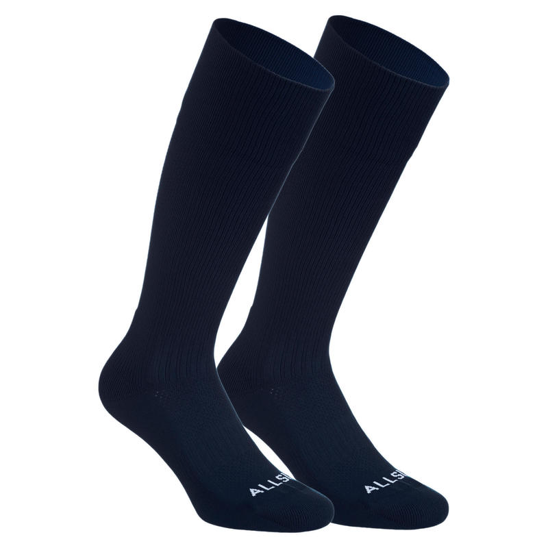 Calcetines largos voleibol Allsix VSK500 azul marino