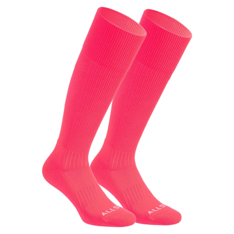 Calcetines largos voleibol Allsix VSK500 rosas