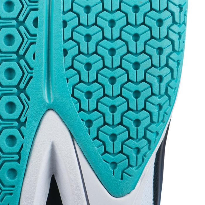 Chaussures de volley-ball pour joueuses régulières blanches, bleues, turquoises